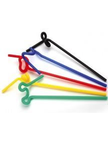 Palhinhas Extra Flexível Colorida (pack 100)