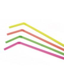 Palhinhas Flexível Neon (pack 500)