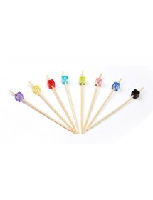 Picks Bamboo Cubo Colorido (pack 200)