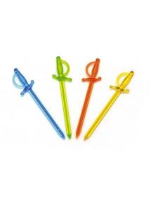 Picks Espadas Colorido (pack 1000)