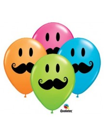 Balões Bigodes (pack 6)