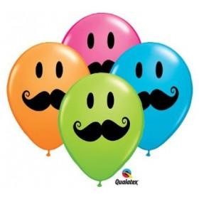 Balões Bigodes (pack 6) - Mr. Party 4b20e4b424