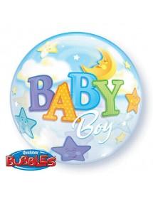 Balão Bubbles Baby Boy 56cm