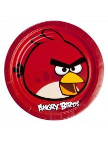 Pratos Angry Birds (pack 8)
