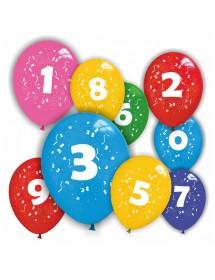 Balões Números (pack 12 unidades)