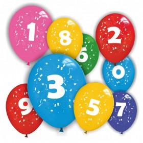 Balões Números (pack 6 unidades)