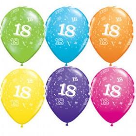 Balões Nº 18 (pack 6 coloridos) 28cm