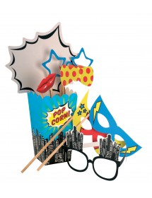 Photo Booth Kit Super Heróis