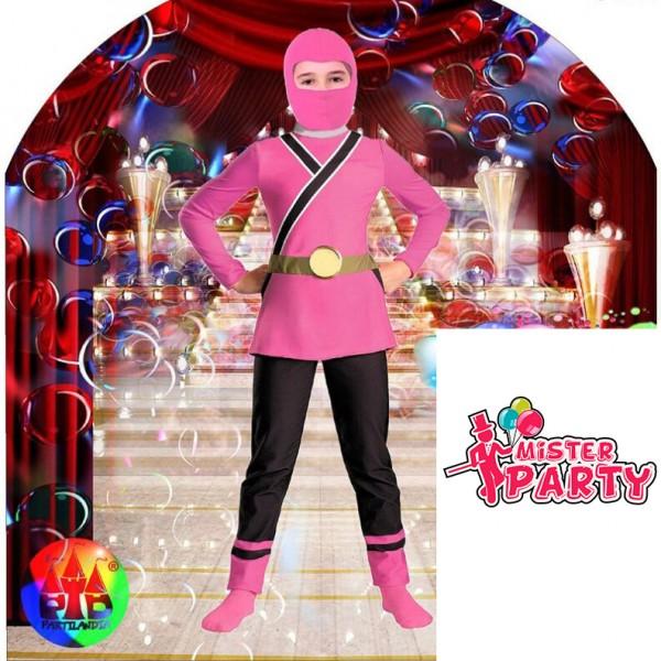Fato Ninja Rosa Mr Party