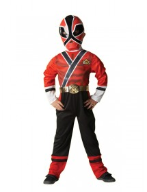 Fato Power Rangers Red Samurai