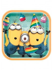 Pratos Minions (pack 8)