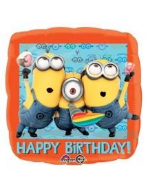 Balão Foil Minions Happy Birthday