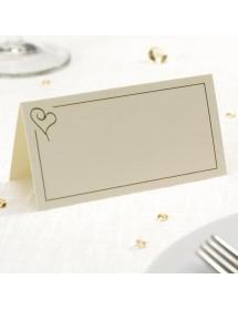 50 Cartões de Mesa - Heart Gold