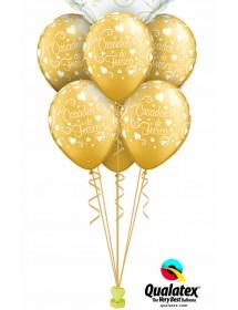 """Balões """"Casados de Fresco"""" 28cm (pack 25)"""