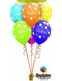 """Balões """"Parabéns"""" 28cm (pack 25)"""
