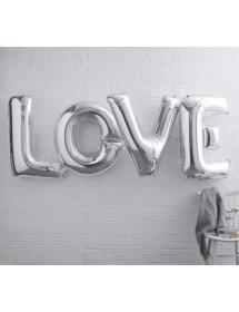 "Balões Foil ""LOVE"" Prateado"