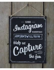 Ardósia Instagram Personalizável (25cm)