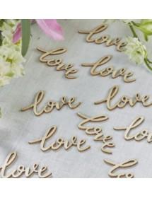 """Confetis de Mesa - Madeira """"Love"""" (pack 25)"""