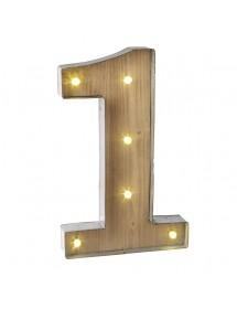 Número 0 Luminoso (40 cm)