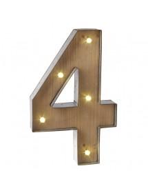 Número 3 Luminoso (40 cm)