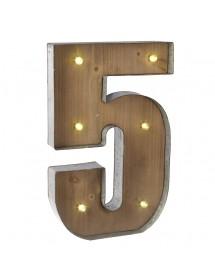 Número 4 Luminoso (40 cm)