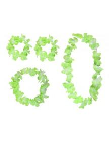 Kit Hawaii Verde (colar,2 pulseiras, fita)