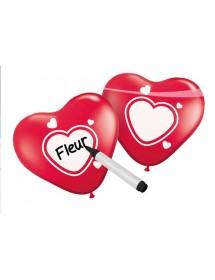 Balões Coração Personalizável (pack 6) 25cm