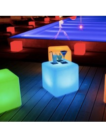 Cubo LED 40cm (com comando)