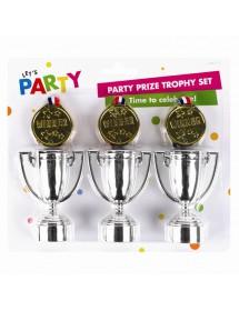 Mini Troféus e Medalhas (pack 6)