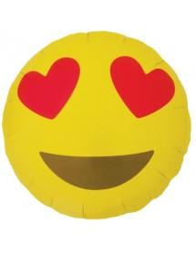 Balão Foil Emoji Kissing Heart 45cm