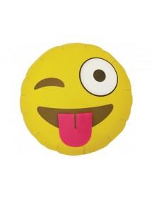 Balão Foil Emoji Blushing 45cm