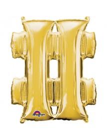 Balão Foil Hashtag 86cm Prateado