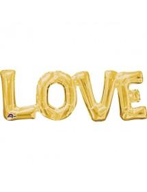 Balão Foil LOVE Prateado 40cm