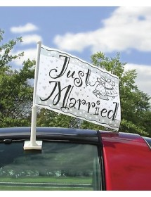 Bandeira Carro - JUST MARRIED
