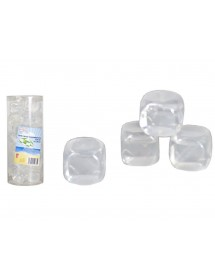 Cubo Gelo Transparente Plástico (pack 30)