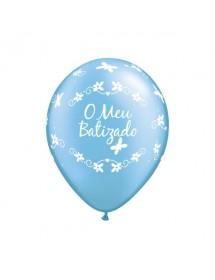 """Balões """"O meu batizado"""" 28cm (pack 25)"""
