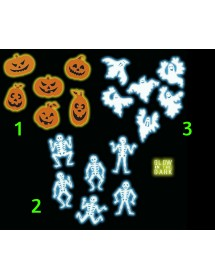 Decoração Halloween Glow in the Dark (Pack 6)
