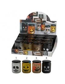 Frasco Halloween C/ Vela LED