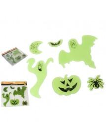 Stickers Fantasmas Verdes Pack 6