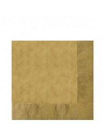 Guardanapo Dourado (Pack 50) Liso
