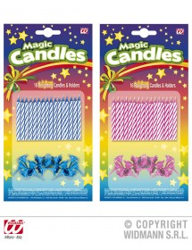 Velas Coloridas (pack 24 c/ suporte)