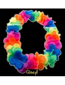 Colar Hawaii Fluorescente Multicor