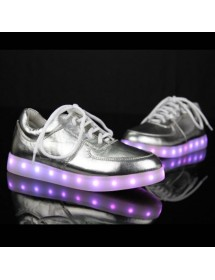 Ténis LED ( Prateados )