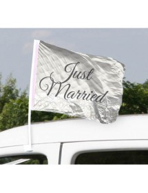 Bandeira Carro Just Married ( 45cm )