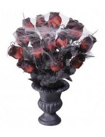Vaso Rosas com Teias