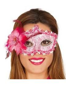 Máscara Decorada Flor