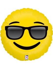 Balão Foil Emoji Sunglasses ( 46cm )
