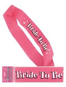 Faixa Bride To Be Rosa