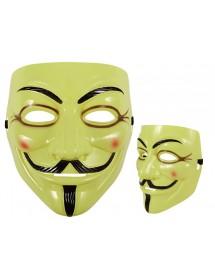 Máscara Anonymous Amarela