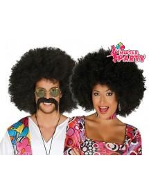 Peruca Hippie / Afro Preta